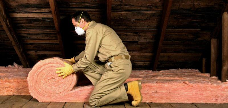 Полагане на топлоизолация на тавана
